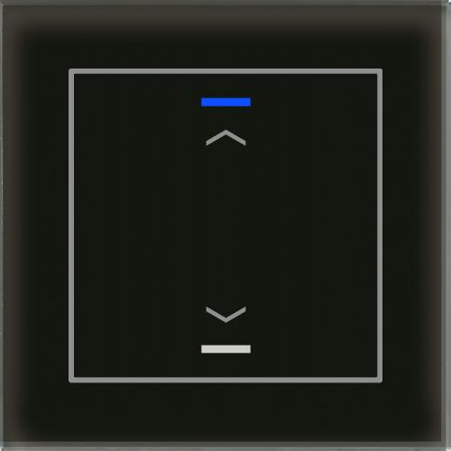 MDT Glass Push Button II Lite 2-kn U/N Svart