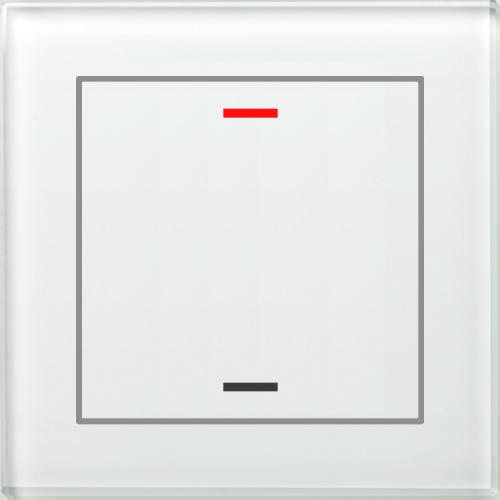 MDT Glass Push Button II Lite 2-kn Neut Vit