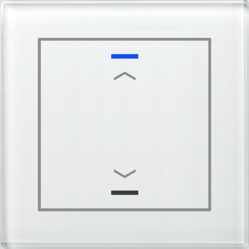 MDT Glass Push Button II Lite 2-kn U/N Vit