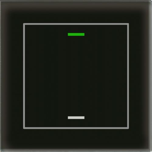 MDT Glass Push Button II Lite 2-kn Neut Sv + temp