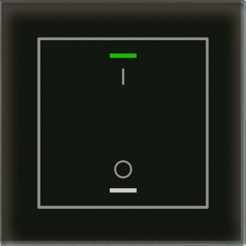 MDT Glass Push Button II Lite 2-kn I/O Sv + temp