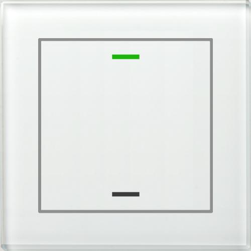 MDT Glass Push Button II Lite 2-kn Neut Vit + temp