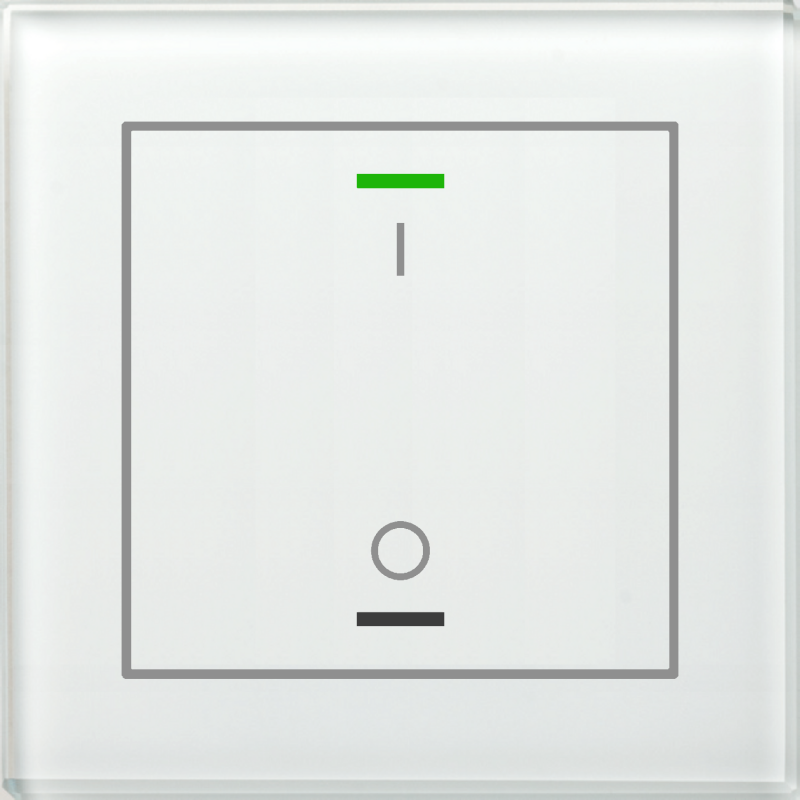 MDT Glass Push Button II Lite 2-kn I/O Vit + temp