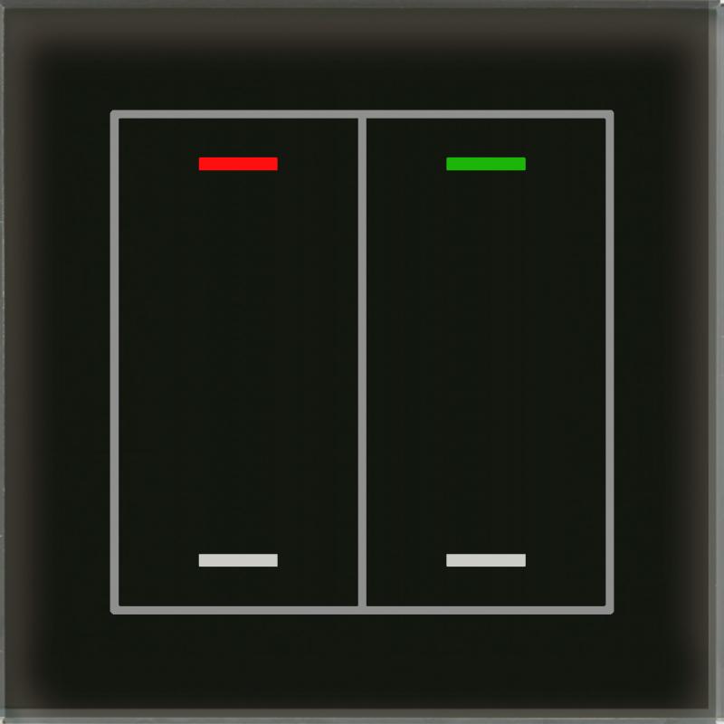 MDT Glass Push Button II Lite 4-kn Neut Sv