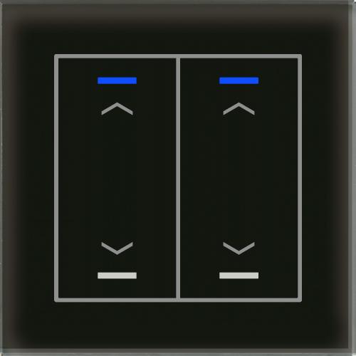 MDT Glass Push Button II Lite 4-kn U/N Svart