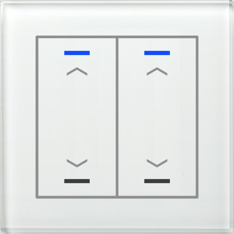 MDT Glass Push Button II Lite 4-kn U/N Vit