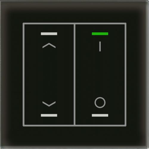 MDT Glass Push Button II Lite 4-kn U/N+I/O Sv + t