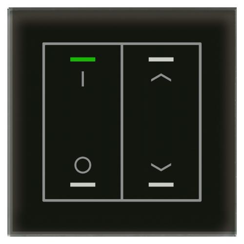 MDT Glass Push Button II Lite 4-kn I/O+U/N Sv + t