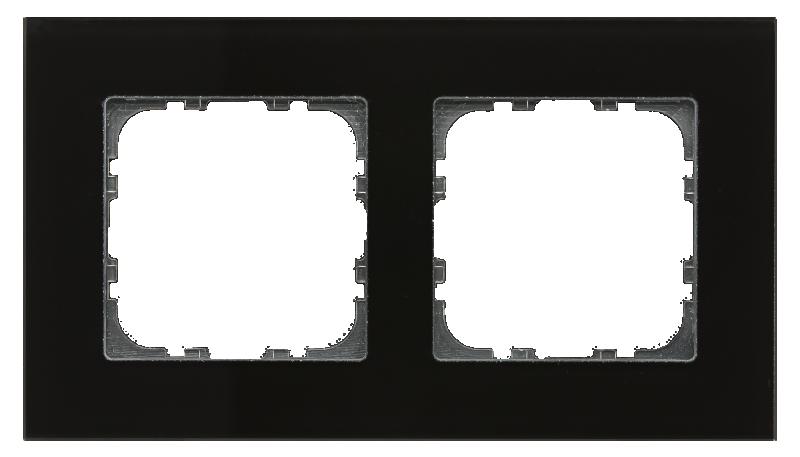 MDT Kombinationsram 2-fack 55x55 Svart glas