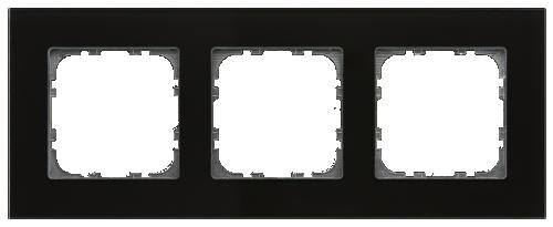 MDT Kombinationsram 3-fack 55x55 Svart glas