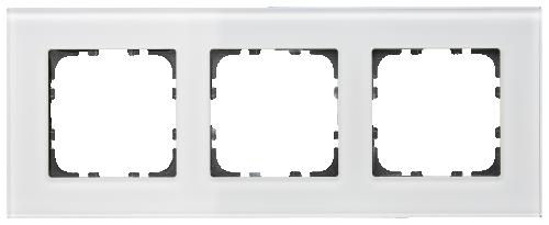 MDT Kombinationsram 3-fack 55x55 Vit glas