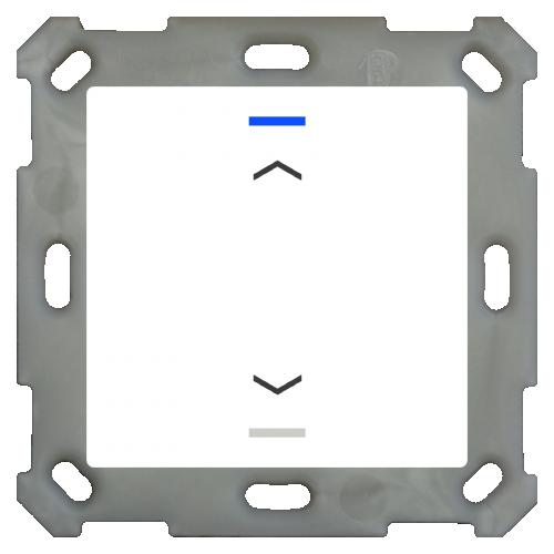 MDT Push Button Lite 55 2-kn Pil U/N Vit blank