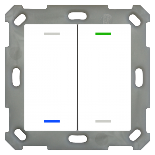 MDT Push Button Lite 55 4-kn Neut Vit blank