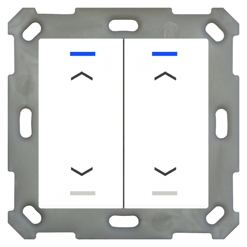 MDT Push Button Lite 55 4-kn Pil U/N Vit blank