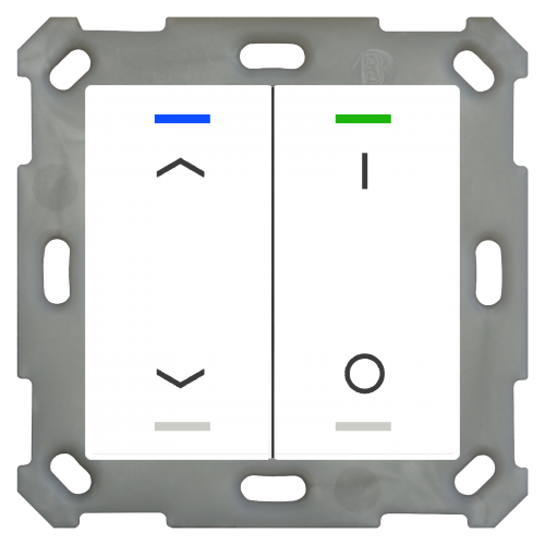 MDT Push Button Lite 55 4-kn Vit bl U/N+I/O