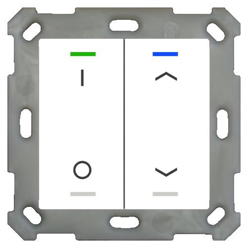 MDT Push Button Lite 55 4-kn Vit bl I/O+U/N