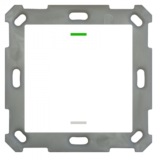 MDT Push Button Lite 55 2-kn Neut Vit blank + temp