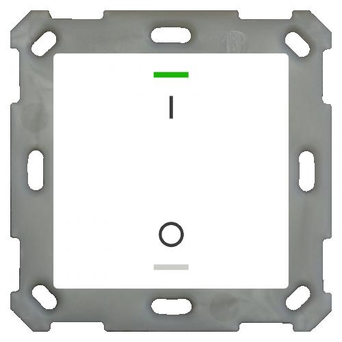 MDT Push Button Lite 55 2-kn I/O Vit blank + temp