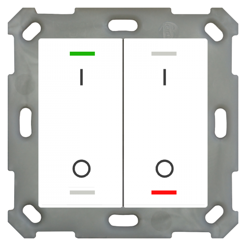 MDT Push Button Lite 55 4-kn I/O Vit blank + temp