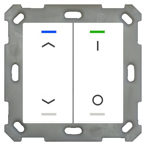 MDT Push Button Lite 55 4-kn Vit bl U/N+I/O + temp
