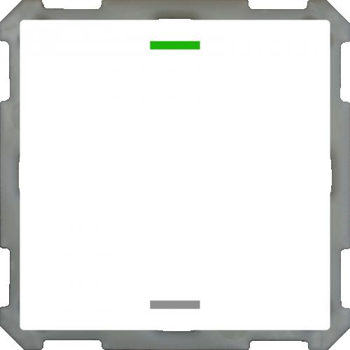 MDT Push Button Lite 63 2-kn Neut Vit blank