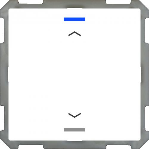 MDT Push Button Lite 63 2-kn Jalusi Vit blank