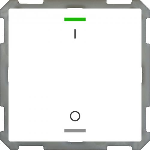 MDT Push Button Lite 63 2-kn I/O Vit blank