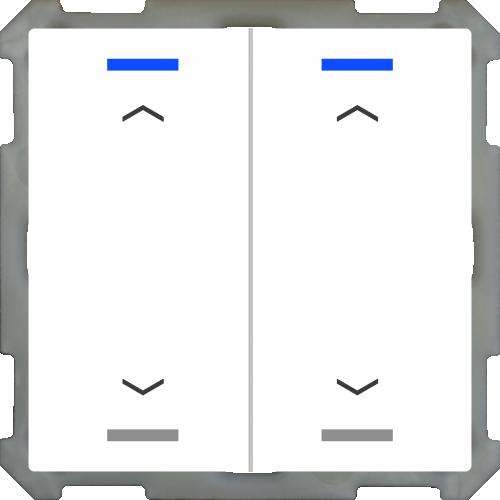 MDT Push Button Lite 63 4-kn Jalusi Vit blank