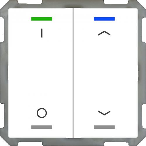MDT Push Button Lite 63 4-kn  I/O + U/N Vit
