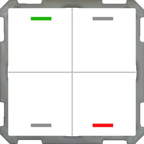 MDT Push Button Lite 63 4-kn Neut Vit blank