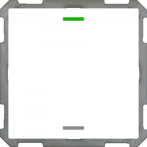 MDT Push Button Lite 63 2-kn Neut Vit blank + temp