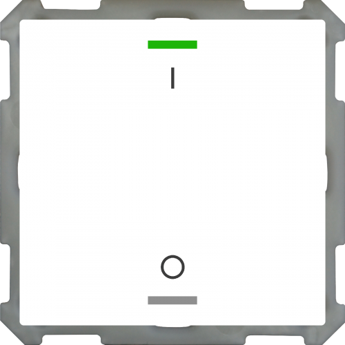 MDT Push Button Lite 63 2-kn I/O Vit blank + temp