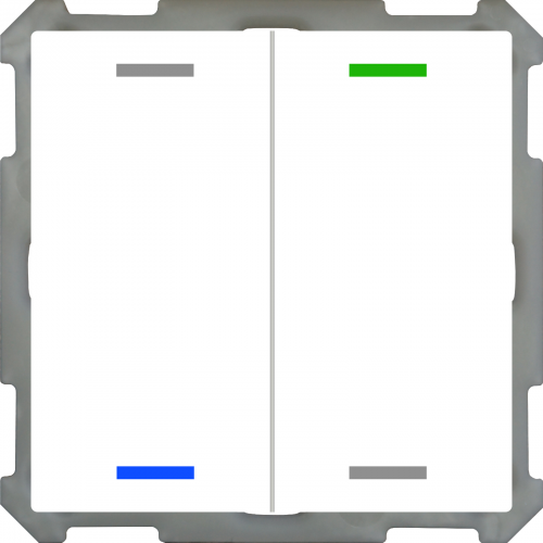 MDT Push Button Lite 63 4-kn Neut Vit blank + temp
