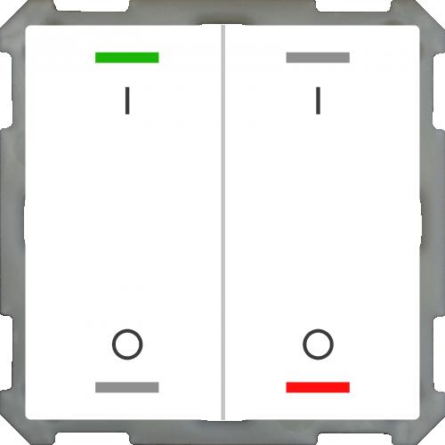MDT Push Button Lite 63 4-kn I/O Vit blank + temp