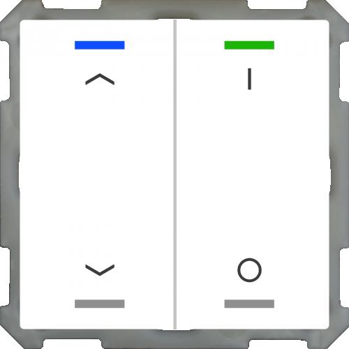 MDT Push Button Lite 63 4-kn U/N + I/O Vit + temp