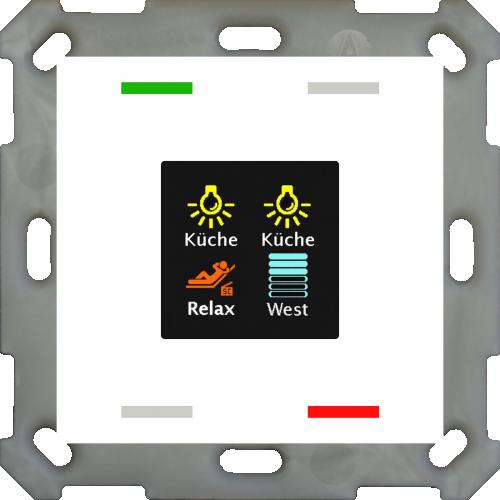 MDT Push Button Smart 55 4-kn Display Vit