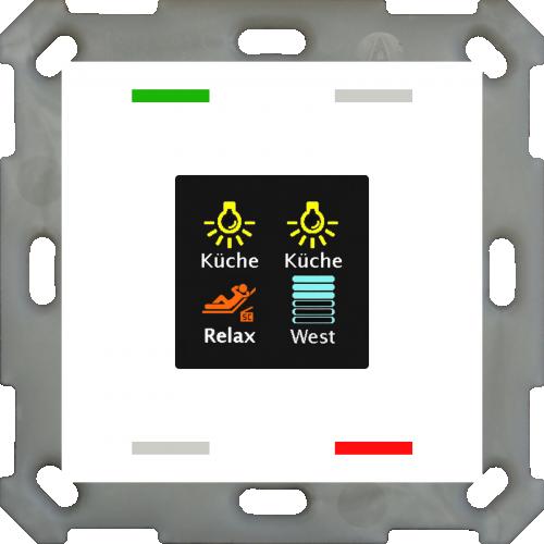 MDT Push Button Smart 55 4-kn Display Vit + temp