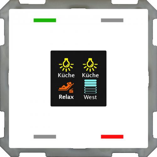 MDT Push Button Smart 63 4-kn Display Vit + temp
