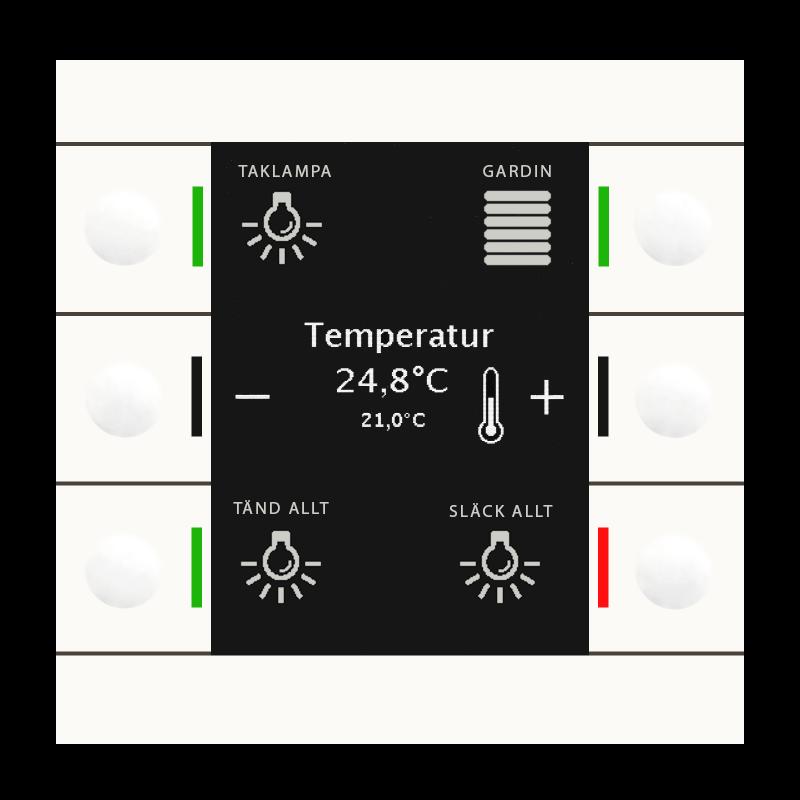 MDT Push Button Smart 86 Vit blank + temp
