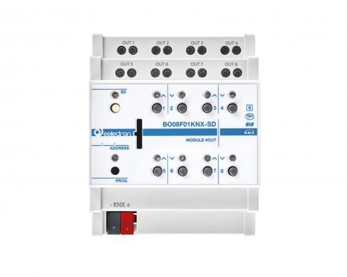 eelectron KNX Brytaktor 8-kan / 4-kan Jalusi+ SD
