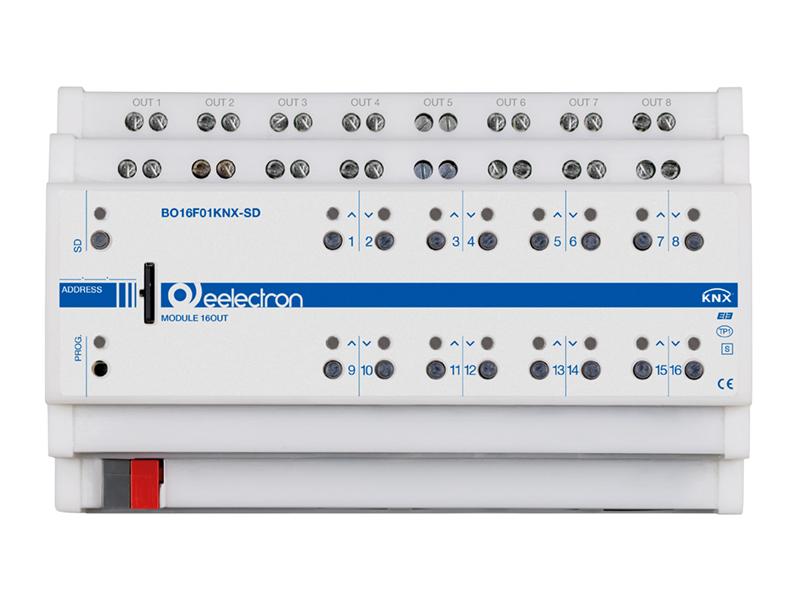 eelectron KNX Brytaktor 16-kan / 8-kan Jalusi+SD
