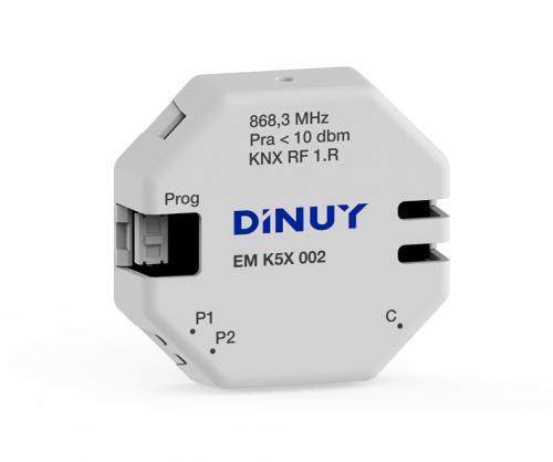 DINUY RF Trycknappsgränssnitt 2 IN + Temp Batteri