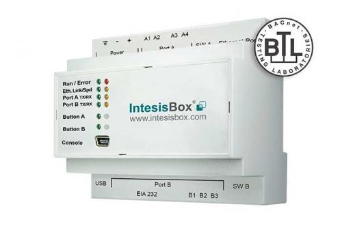 IntesisBox KNX/BACnet IP & MS/TP Client GW 3000dpt