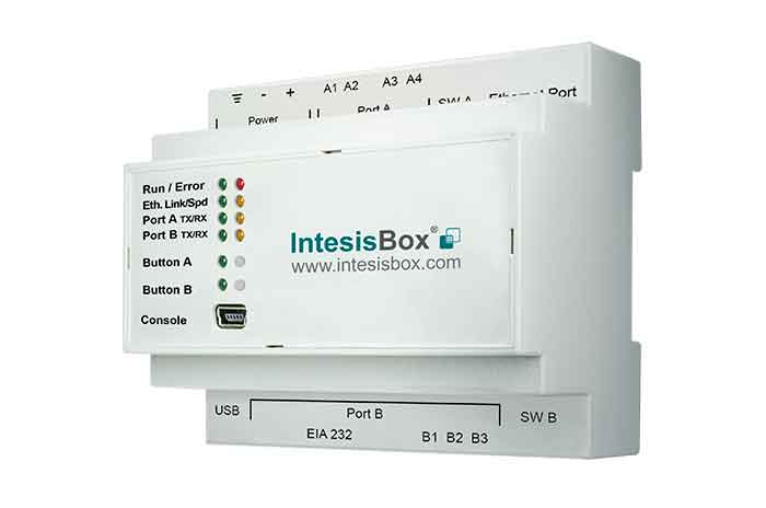 IntesisBox KNX/Modbus Server RTU & TCP GW 100 dpt