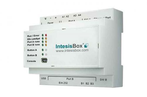 IntesisBox KNX/Modbus Server RTU & TCP GW 250 dpt