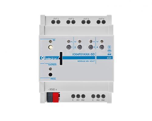 eelectron KNX Brytaktor 4-kan+4IN 2-kan Jalusi+SD