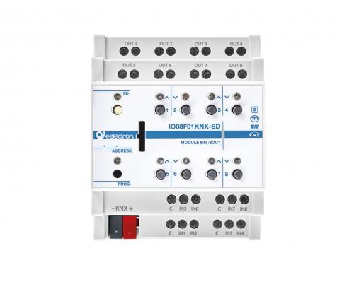 eelectron KNX Brytaktor 8-kan+8IN / 4-kan Jal+ SD