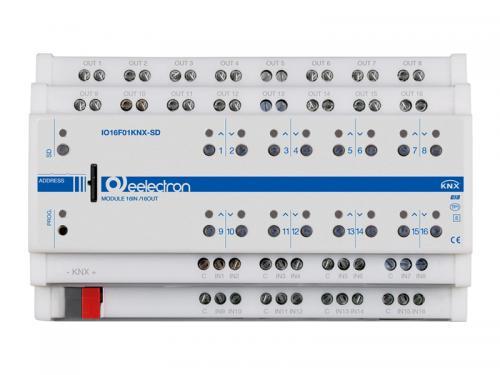 eelectron KNX Brytaktor 16-kan+16IN / 8-kan Jal+SD