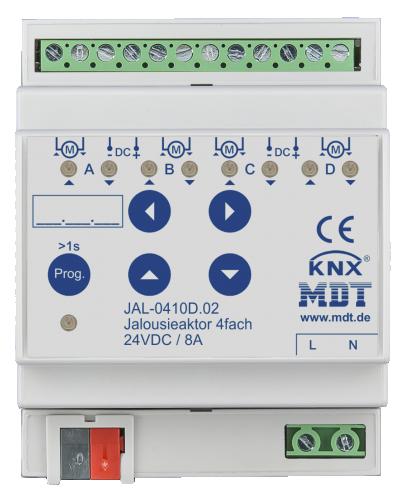 MDT Jalusiaktor 4-kan 24VDC