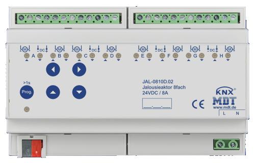 MDT Jalusiaktor 8-kan 24VDC